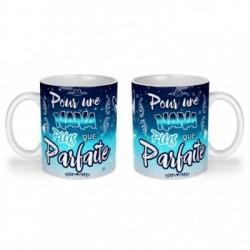 Mug, tasse en céramique, une nana plus que parfaite, bleu céleste, cadeaux, plaisir d'offrir