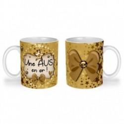 Mug, tasse en céramique, une avs en or, cadeaux, plaisir d'offrir