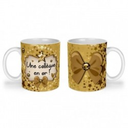 Mug, tasse en céramique, une collègue en or, cadeaux, plaisir d'offrir