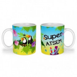 Mug, tasse en céramique, super atsem, toucan, exotique, cadeaux, plaisir d'offrir