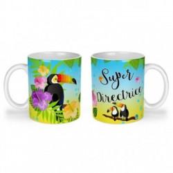 Mug, tasse en céramique, super directrice, toucan, exotique, cadeaux, plaisir d'offrir