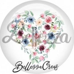 Cabochon verre, cabochon resine, mariage, mariée, témoin, couronne fleurs