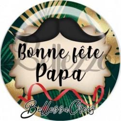 Cabochon verre, cabochon resine, papa, tropical, exotique, fête des pères