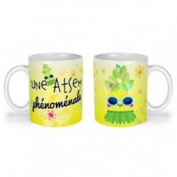 Mug, tasse en céramique, une atsem phénomale, ananas, tropical, cadeaux, plaisir d'offrir