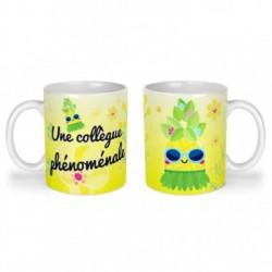 Mug, tasse en céramique, une collègue phénomale, ananas, tropical, cadeaux, plaisir d'offrir