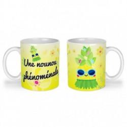 Mug, tasse en céramique, une nounou phénomale, ananas, tropical, cadeaux, plaisir d'offrir