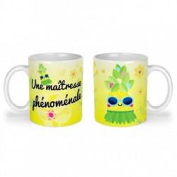 Mug, tasse en céramique, une maîtresse phénomale, ananas, tropical, cadeaux, plaisir d'offrir