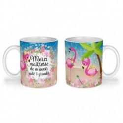 Mug, tasse en céramique, merci de m'avoir aidé à grandir, flamant rose, plage, été, cadeaux, plaisir d'offrir