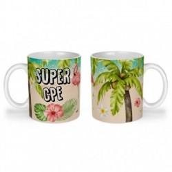 Mug, tasse en céramique, super cpe, flamant rose, tropical, exotique, plage, été, cadeaux, plaisir d'offrir