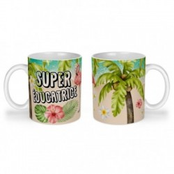 Mug, tasse en céramique, super éducatrice, flamant rose, tropical, exotique, plage, été, cadeaux, plaisir d'offrir