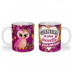 Mug, tasse en céramique, pour la plus chouette des boulangère, prénom, cadeaux, plaisir d'offrir