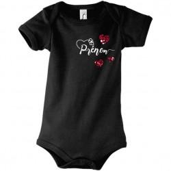 Body manches courtes bébé prénom à personnaliser