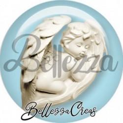 Cabochon verre, cabochon resine, ange, illustration