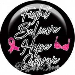 Cabochon verre, cabochon resine, sensibiliation, ruban, cancer du sein, hope